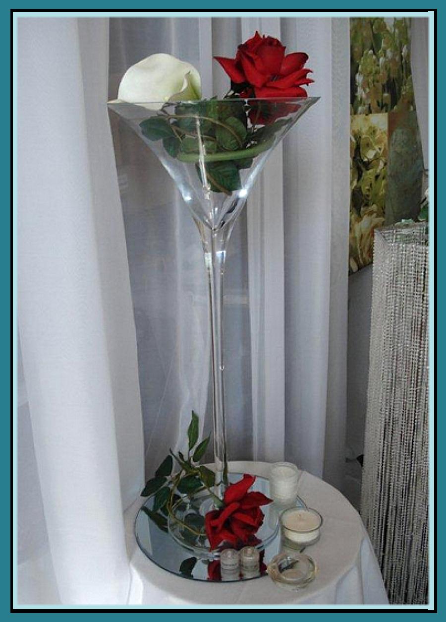 Deco vase martini pour mariage - Decoration de vase pour mariage ...